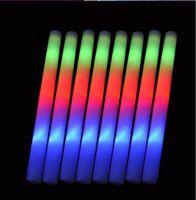 LEDグローライトアップフォームスティックおもちゃ色LEDフォームグローウェディングパーティーデコレーションおもちゃ19インチLEDワンドラリーバトンDJ