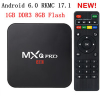 MXQ Pro 4K Smart-TV-Box RKMC 17.2 Rockchip 3229 Android 6.0 Streaming Media Player WiFi H.265 3D Kostenlose Filme