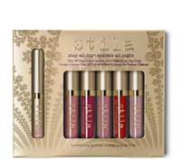 제 네트워크 메이크업 스틸라 립글로스 투숙 하루 종일 액체 립스틱 및 반짝이는 립 탑 코트 6 컬러 매트 액체 립스틱 세트 DHL ShiveA08
