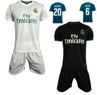 17 18 Reals Madrid Home Soccer Kits Ronaldo ASENSIO Away Bla...