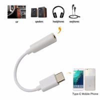 USB Adaptörleri Tip-C için 35mm Ses Hoparlör Kadın Kulaklık Mikrofon Kulaklık Jack CoverTor Kablo Xiaomi 6 Huawei P9 Leeco Pro 3 Le 2