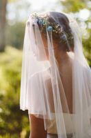 Voiles de mariée de haute qualité avec bordure coupée 1.5m / 2m / 3m / 5m Couche Tulle Blanc / Ivoire Élégant Hôtellissement Mariage Voile de mariée # VL003B