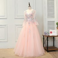SSYFashion High- grade Evening Dresses Sweet Pink Lace Flower...
