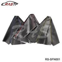 RASTP -General Car Auto Stitch in fibra di carbonio in pelle JDM Maiusc Copertura avvio pomello del cambio per MT / AT Sport LS-SFN001