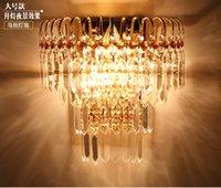 Hallway Living Sala de cama Fayer Casas de cabeceira Lâmpadas de luz Lâmpada de luminária Lâmpada de bracket com K9 Crystal Golden