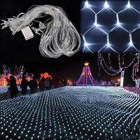 Vorhang beleuchtet Weihnachtslichter 1.5 * 1.5m 3 * 2m 6 * 4m 8 * 10m LED-Lichter Weihnachtsverzierungslampe Blitz farbiges Licht des feenhaften Hochzeitsdekors im Freien
