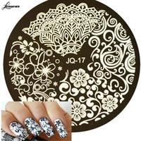 Beauty Blumen-Art-Bilder für Druck-Nagel-Kunst-Nagel-Kunst-Platten-Schablonen-Schablonen Maniküre Styling Werkzeuge