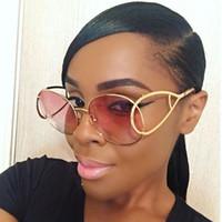ALOZ MICC круг солнцезащитные очки для женщин Марка металлический каркас унисекс градиент круглый дизайнер солнцезащитные очки полые оранжевый розовый ретро очки A212