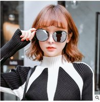 2017 new fashion polarizing sunglasses for men and women Restore ancient round sun glasses four colors can choose