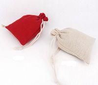 القطن الكتان الرباط هدية حقائب قماش مجوهرات الحقائب الشاش تغليف حالة زفاف لصالح حامل 10 * 13cm 100pcs / lot