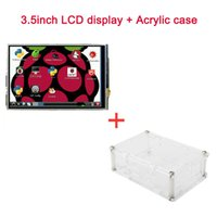 Freeshipping Raspberry Pi 3.5 inch LCD Display Module LCD Touch Screen with Acrylic Case Clear case Support Raspberry Pi 3 Raspberry Pi 2
