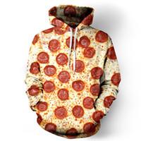 Großhandels- neue Harajuku Mode-beiläufige Sweatshirts Unisex-Sweatshirt-Käse-Wurst-Pizza-Kapuzenpullover-Sweatshirts der Sweatshirts 3d grafische Sweatshirts