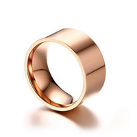 FANSING 10MM عصابات خاتم الفولاذ المقاوم للصدأ خواتم الزفاف للرجال الرجل في الفضة / الذهب / ارتفع لون الذهب بالجملة