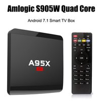 RK3229 Android 6.0 TV Box A95X R1 Rockchip Quad-core Cortex A7 1G / 8G 4K * 2K 2.4G WiFi HDMI Больше APPs MOTO OTT Media Player S905W Android 7.1