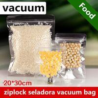20x30 cm saco de vácuo sous vide vacuo vácuo vácuo organizador ziplock termica seladora selador transparente bolsas de armazenamento de almoço para alimentos neceser