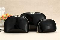 Sıcak Kadınlar Kar Tanesi Ünlü Marka 3 adet / takım Vanity Kozmetik Kılıf Lüks Makyaj Organizatör Çantası Tuvalet Debriyaj Kılıfı