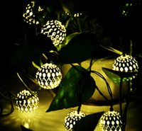 3. 3M 10 Balls Moroccan String Lights Solar outdoor Powered L...