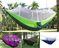 Großhandel 50 teile / los Outdoor Portable Camping Moskito Nettel Schlaf Hängematte Hohe Festigkeit Fallschirmgewebe Doppel Hängendes Bett