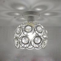 LOFT 빈티지 스타일 단 철 높은 품질 K9 크리스탈 천장 램프 AC85-265V 복도 램프 발코니 부엌 led 램프