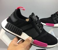 Hot- sell adies pink NMD Runner PK Black Sneakers Running Sho...