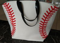 new colors new Canvas Bag Baseball Tote Sports Bags Casual S...