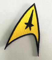 映画スターTrekアメリカンサイエンスフィクション刺繍アイロンパッチバッジ送料無料送料無料革やジャケット帽子バッグ