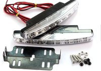 IN stock Super 8 LED Super Bright White DRL Car Daytime Runn...