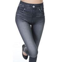 الجملة - مثير تمتد قلم رصاص جينز ابيض مخصر عالية كامل طول النساء سراويل الجينز السراويل jegging زائد حجم الجينز سراويل النساء
