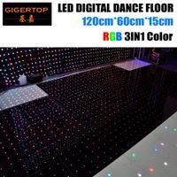 Rabatt Preis 120cm * 60cm Led RGB Digital Tanzfläche 4ftx4ft Größe montieren Unterstützung nicht wasserdicht Video / Muster / Text spielen Gigertop Licht