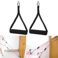 Nylon Tricep Seil Kabel Befestigung Griff V Bar Dip Station Fitness Yoga Exerciser Gym Widerstand für Bodybuilding