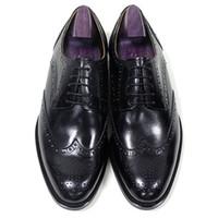 557c8fca8a5e2 Chaussures habillées pour hommes Chaussures habillées faites main Chaussures  à bout rond Derby en cuir de