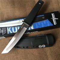 Vente en gros Cold Steel Kobun Tanto point Lame couteau camping en plein air Randonnée survie droite couteau avec ABS K gaine