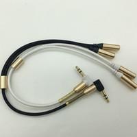 3,5 mm 1 maschio a 2 due femmina jack per cuffie microfono per cuffie audio stereo sdoppiatore cavo adattatore corda per iphone Samsung Mp3