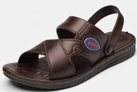 2017 nuovi uomini sandali da uomo estate maschio traspirante sandali di cuoio pantofole sandali da uomo casual per le scarpe