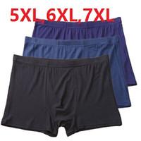 5XL, 6XL, 7XL Männer Boxershorts Komfortable Männer Feste Unterwäsche Sexy Bambusfaser Boxer 4 teile / los Männliche Unterwäsche Kostenloser Versand