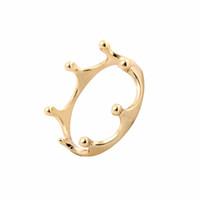 Usine Prix Mode Couronne Anneau 18 k Or Argent Rose Plaqué Or Cadeaux De Mariage Bonheur Amitié Anneaux pour Les Femmes Peut Mélanger Couleur EFR023