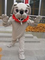 De alta qualidade Real Pictures Deluxe cachorro Bulldog Traje Da Mascote Do Traje Da Mascote Do Personagem Dos Desenhos Animados Adulto Tamanho frete grátis