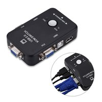 Бесплатная доставка 2 порта USB 2.0 KVM переключатель SVGA VGA переключатель Box монитор клавиатура мышь адаптер принтера подключается для компьютера