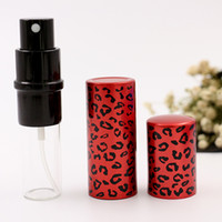 Leopard Mini Refillable Atomizer Bomba de alumínio Glass Empty Spray Bottle Tube For Perfume Essential Oil With metal Sprayer