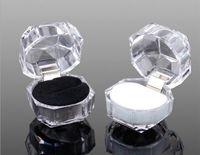 20PCS / LOT Acryl Schmuck Paket Geschenk, Schmuck Display Box Ring Box Ohrring Box Freies Porto