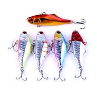 Nuevo 3D Eyes VIB Señuelo de pesca láser 7cm 24g 5 colores Colorido Cuerpo duro Cebo artificial de buceo profundo