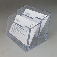 Plusieurs types d'acrylique en plastique Nom de l'entreprise Société Porte-Présentoirs ID carte debout clairement pour le stand d'exposition sur le bureau 2pcs