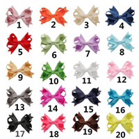 2016 Baby Girls Hiar Clips 3.5-4 pollici Boutique Ribbon Bow con clip Accessori per capelli per bambini Baby Big Bow Barrette Copricapo 20 colori