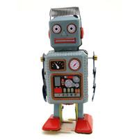 Cartoon Wicklung-uptin Roboter, klassische manuelle Handkräfte, nostalgische Spielwaren, Wohnaccessoires, Kinder-Party-Geburtstagsgeschenke, Sammeln, Dekoration