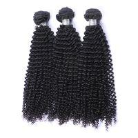 Mongolian bouclés bouclés vierge cheveux Bundles de tissage non transformés afro crépus bouclés mongole remy extension de cheveux humains 3 Pcs Lot couleur naturelle