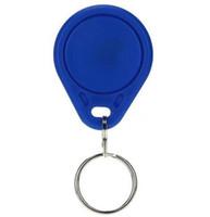 Moins cher prix d'usine faire Meilleur cool TK4100 125khz 100pcs / lot ISO11785 ABS Chine RFID porte clé porte clé Fob carte d'entrée pour le contrôle d'accès