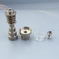 Titanyum kuvars çanak ile Tırnak 10mm 14mm 18mm Erkek ve Kadın Ortak 6 IN 1 Kubbesiz Titanyum Tırnak fit 20mm enail coil isıtıcı