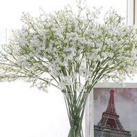 Zarif Gypsophila bebeğin Nefes Yapay Sahte Ipek Çiçekler Gelin Gelinlik Çiçek Buketi Bitki Ev Düğün Dekorasyon ZA1848