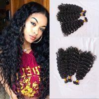 モンゴル人間の髪の髪の大量の緯糸の深さ巻き毛3束編組のための毛髪の髪を染色することができますFDShine