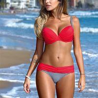 Bikinis Maillots de bain Maillot de bain femme sexy Brésilien Bikini Push Up taille basse Bathing Femme Taille Plus Maillots de bain maillot de bain